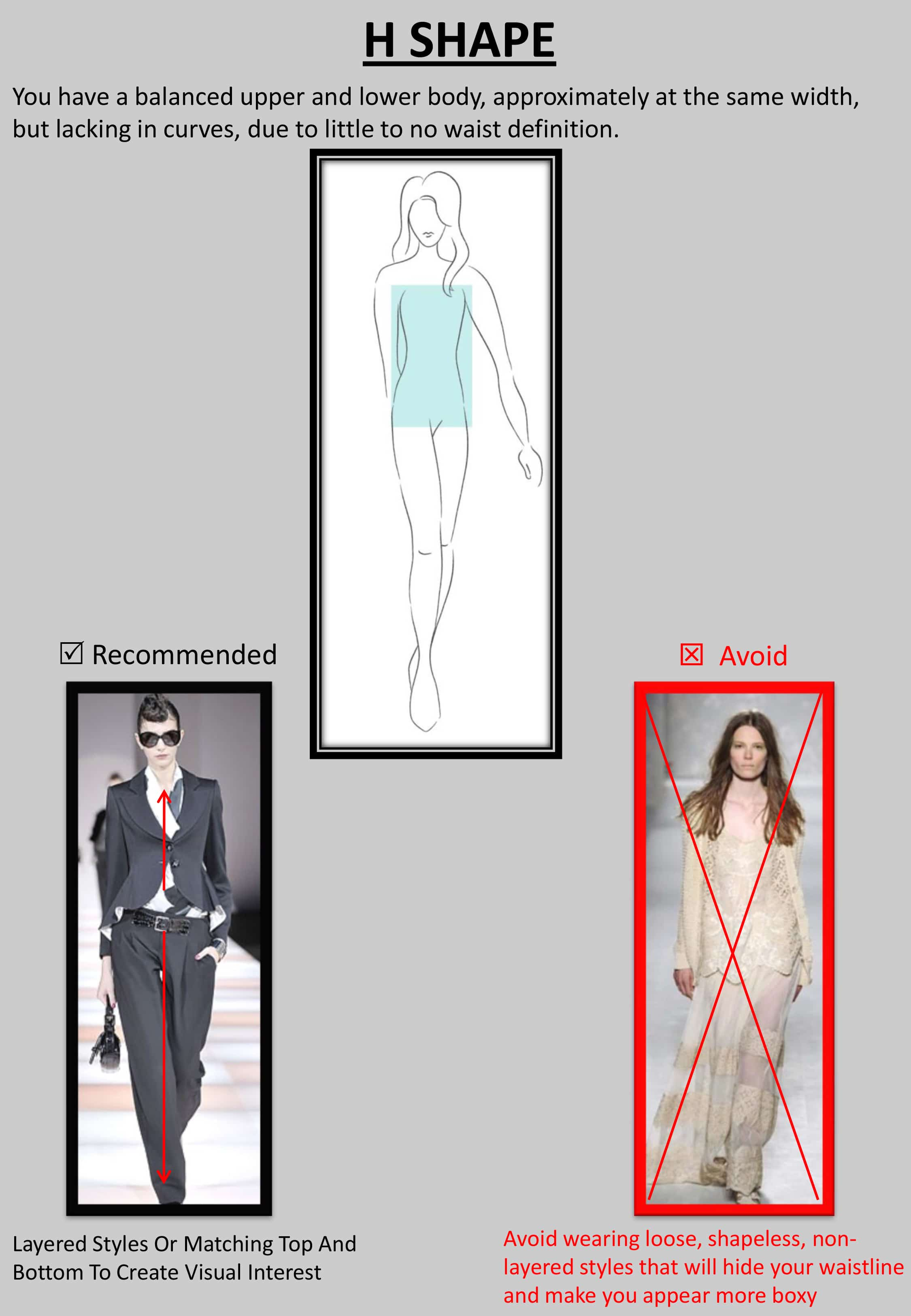 """H result - Tips : """"How to Dress up Your Body Shape?"""""""