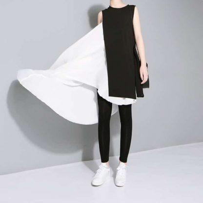 3013477794 1782961829 416x416 - New Fashion Chiffon Spaghetti Strap Asymmetrical Dress