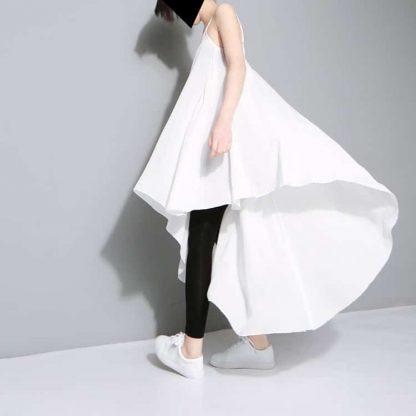 3013483556 1782961829 416x416 - New Fashion Chiffon Spaghetti Strap Asymmetrical Dress