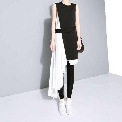 3013486250 1782961829 416x416 - New Fashion Chiffon Spaghetti Strap Asymmetrical Dress