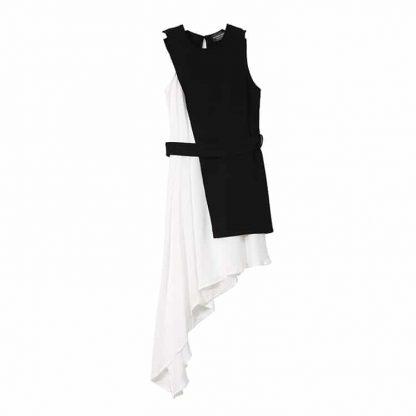 9017446407 1782961829 416x416 - New Fashion Chiffon Spaghetti Strap Asymmetrical Dress